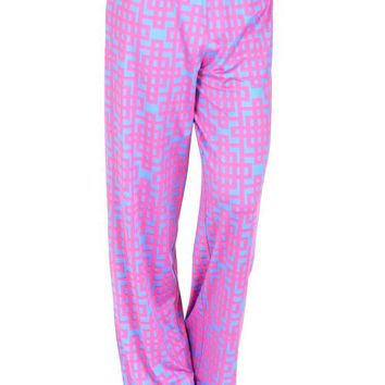 Cool Night Pink And Blue Palazzo Pants | Monday Dress Boutique