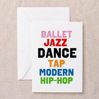 Dance Styles (#3) Greeting Card