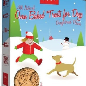 DOG HOLIDAY - CHRISTMAS - OVEN BAKED GINGERBREAD HOLIDAY TREAT  USA - 16 OZ