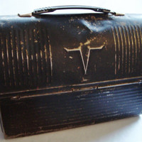 Vintage Black Thermos Lunchpail