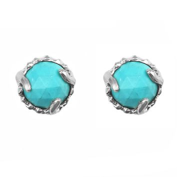 Nova Turquoise Studs - Sterling Silver