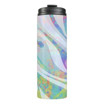 Abstract Colors Waves Design Thermal Tumbler