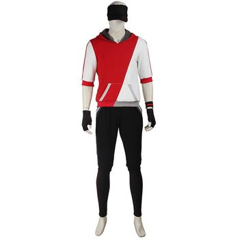 Pocket Monster Cosplay Costume Pokemon Go Cosplay Clothing Male Trainer Team Valor Game Anime Outfit Three Color Custom Made
