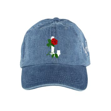 "L Rose ""Dad"" Hat - Denim"