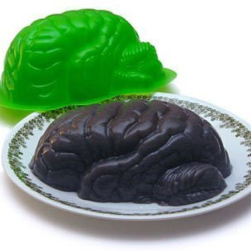 Zombie Brain Jello Mold the Walking Dead Horror Decor