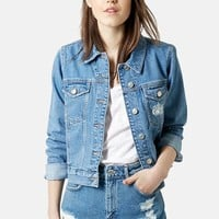 Women's Topshop Moto 'Tilda' Denim Jacket