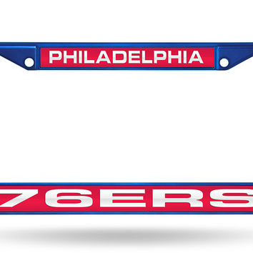 76ERS BLUE LASER COLORED CHROME FRAME