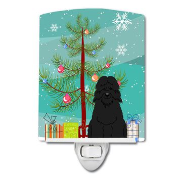 Merry Christmas Tree Bouvier des Flandres Ceramic Night Light BB4199CNL