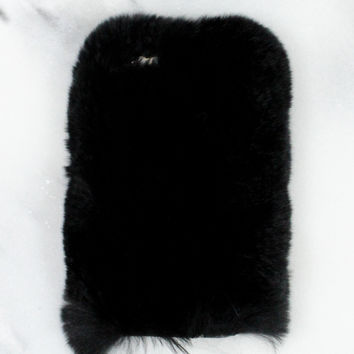 Black Fuzzy iPhone Case
