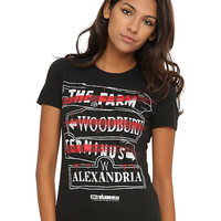 The Walking Dead Places Girls T-Shirt