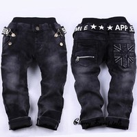 new fashion kids Spring and Autumn jeans size 567