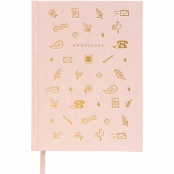 Blush Address Book Keepsake Organizer