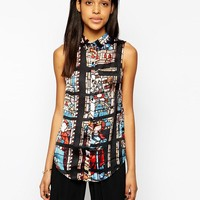 Rock & Religion | Rock & Religion Raphael Stained Glass Print Shirt at ASOS