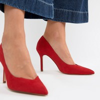 Stradivarius court shoe in red at asos.com