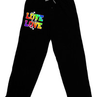 Love Is Love Gay Pride Adult Lounge Pants