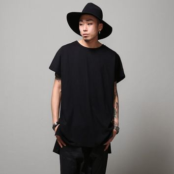 Mens Oversize Drop Armhole Extended Overlong Short Sleeve Tee at Fabrixquare