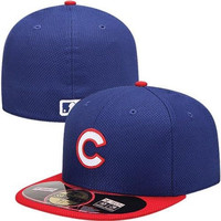 New Era Chicago Cubs Diamond Era  59FIFTY Fitted Hat - Royal Blue