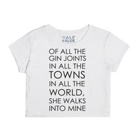 She Walks Into Mine-Female Snow T-Shirt
