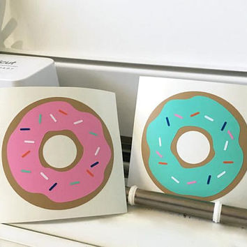 Donut Sticker/ Cute Doughnut/ Car Decal Donut/ Food Decals for Laptops/ Computer Decals/ Car Stickers/ Window Stickers/ Donut/ Sprinkles
