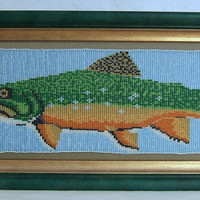 Loom Beaded Brook Trout Fish Art