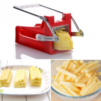 Kitchen French Fry Cutters Stainless Potato Chipper