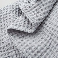 PHF Waffle Weave Blanket 100% Cotton Queen Size Light Grey