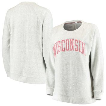 Wisconsin Badgers Pressbox Women's Helena Comfy Sweatshirt – Gray