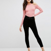 ASOS Tall | ASOS TALL Body with High Neck and Cold Shoulder at ASOS