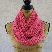 Ready To Ship Infinity Scarf Pink Women's Accessory Infinity Spring Long Skinny Scarf