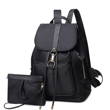 Student Backpack Children 2017 Top Sale new fresh solid high school students backpack schoolbag backpack men and women casual minimalist bag  shipping AT_49_3