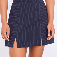 Cooperative Kendric Notch Hem Striped Skirt | Urban Outfitters