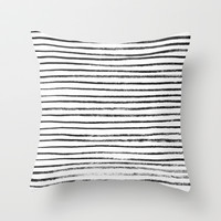 Brush Line Pattern Throw Pillow by LacyDermy