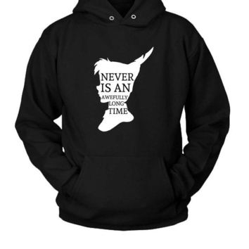 DCCK7H3 Peter Pan Quote Silhouette Hoodie Two Sided