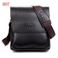 Quality Leather Mens Messenger Bag - Polo