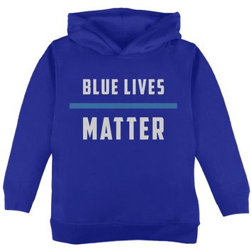 Police Blue Lives Matter Thin Blue Line Toddler Hoodie