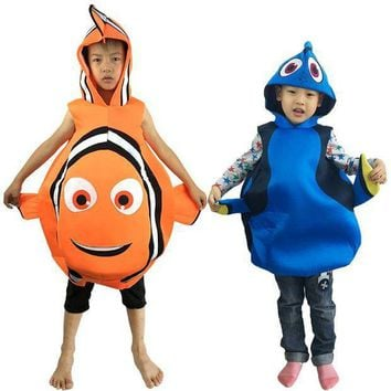 ESBON Halloween Child Adult Performance Cosplay Finding Nemo Doris Clothes Nimo fish Clownfish Party Cosplay Costumes