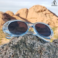 Clear Blue Clout Goggles