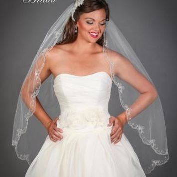Regal Fingertip Wedding Veil 6508VL by Symphony Bridal