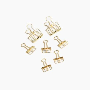 Gold Structure Clips Set