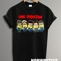 Hot One Direction Shirt Toys Symbol Printed on Black and White t-Shirt For Men Or Women Size TS 65