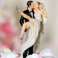 Over the Threshold Wedding Cake Topper - Wedding Figurine