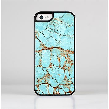 The Cracked Teal Stone Skin-Sert for the Apple iPhone 5c Skin-Sert Case