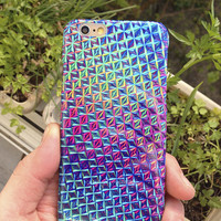 iPhone 6 case holographic print iPhone 6 plus 5 /5S /5c /4 /4S Case iPhone 6 Case iPhone 5c case Samsung S4 Case Galaxy S5 Case shimmer