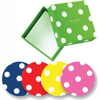 kate spade polka dot coasters - Set of 8 - eclectic - barware - by Organize