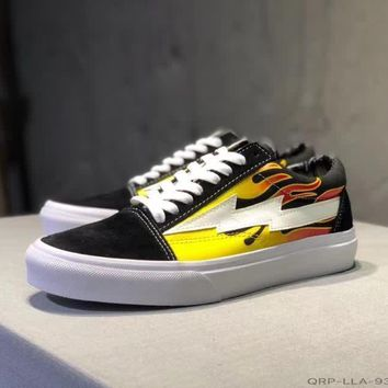 0661f4a3247 vans revenge x storm unisex casual fashion personality flame lig