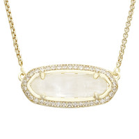 Kendra Scott Annika Necklace - Gold Ivory Mother of Pearl