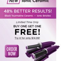 Rotating Hot Iron Hair Straightener | InStyler®
