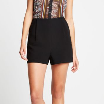 BCBGeneration Sleeveless Collared Romper