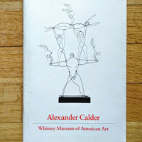 Modern Art Pamphlet, Vintage Calder Booklet, Alexander Calder Art, 1981 Whitney Museum of American Art Booklet, 1980s Sculpture Artist Book