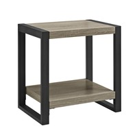 "24"" Urban Blend Side Table - Driftwood/Black"